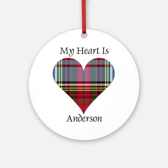 Heart - Anderson Round Ornament