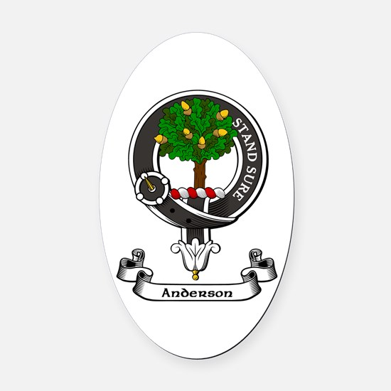 Badge - Anderson Oval Car Magnet