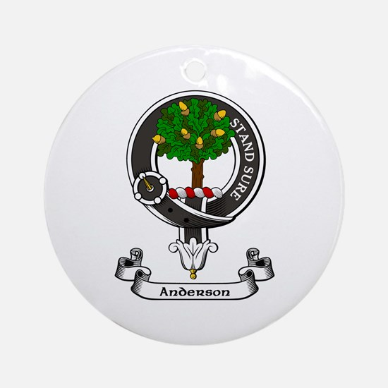 Badge - Anderson Round Ornament
