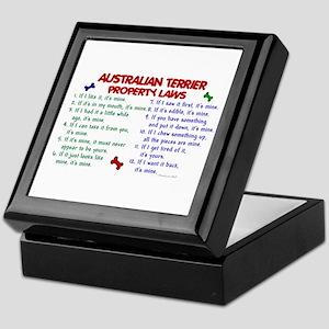 Australian Terrier Property Laws 2 Keepsake Box