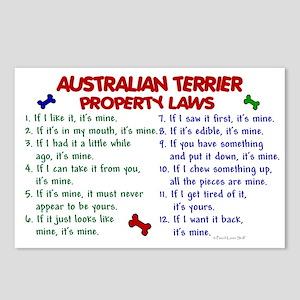 Australian Terrier Property Laws 2 Postcards (Pack