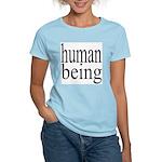 279.human being Women's Pink T-Shirt