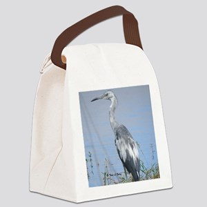 Blue Heron by the Water Canvas Lunch Bag