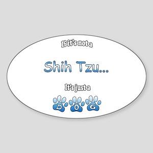 Shih Tzu Not Oval Sticker