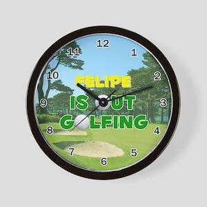 Felipe is Out Golfing - Wall Clock