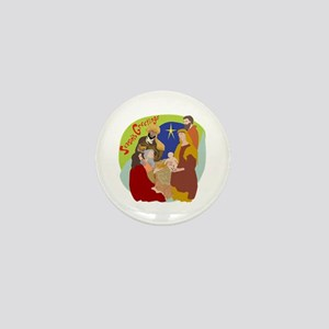 Colorful Nativity Mini Button