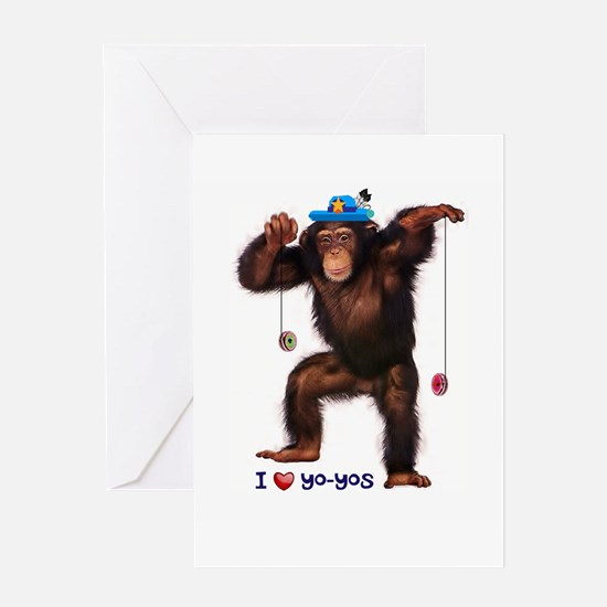 I Heart Yo-yos Greeting Cards