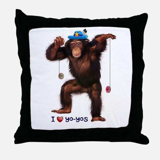 I Heart Yo-yos Throw Pillow