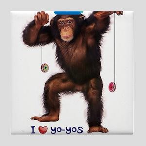I Heart Yo-yos Tile Coaster