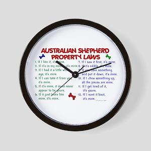 Australian Shepherd Property Laws 2 Wall Clock