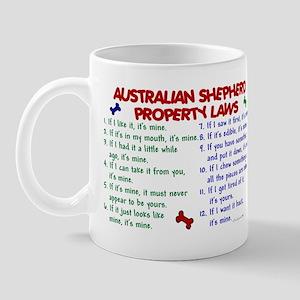 Australian Shepherd Property Laws 2 Mug