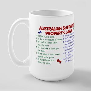 Australian Shepherd Property Laws 2 Large Mug