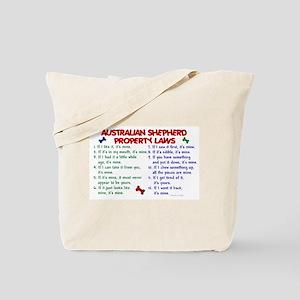 Australian Shepherd Property Laws 2 Tote Bag