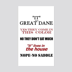 Great Dane Walking Answers Rectangle Sticker