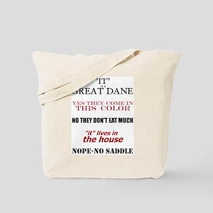 Great Dane Walking Answers Tote Bag