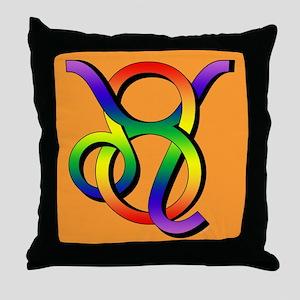 GLBT Leo & Taurus o Throw Pillow