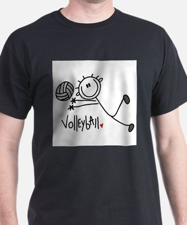Stick Figure Volleyball T-Shirt