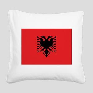Albania Square Canvas Pillow