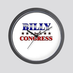 BILLY for congress Wall Clock