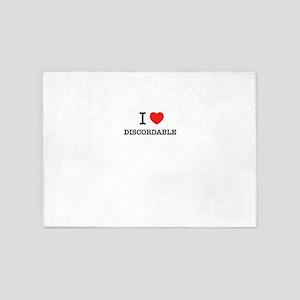I Love DISCORDABLE 5'x7'Area Rug