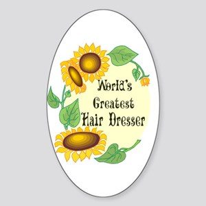 World's Greatest Hair Dresser Oval Sticker