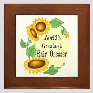 World's Greatest Hair Dresser Framed Tile