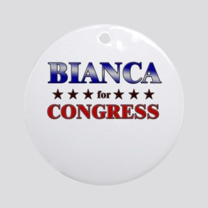 BIANCA for congress Ornament (Round)