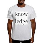 284.know ledge Ash Grey T-Shirt