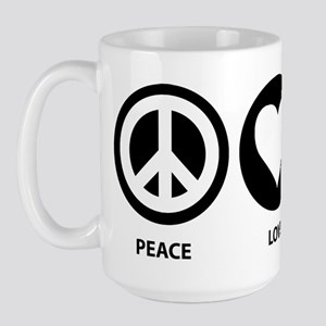 Peace Love Squirrel Large Mug