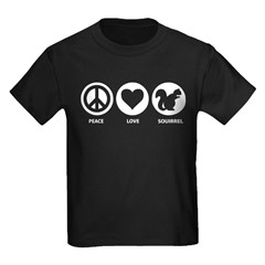 Peace Love Squirrel T