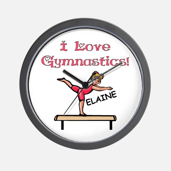 I Love Gymnastics (Elaine) Wall Clock