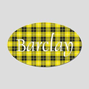 Tartan - Barclay dress 20x12 Oval Wall Decal