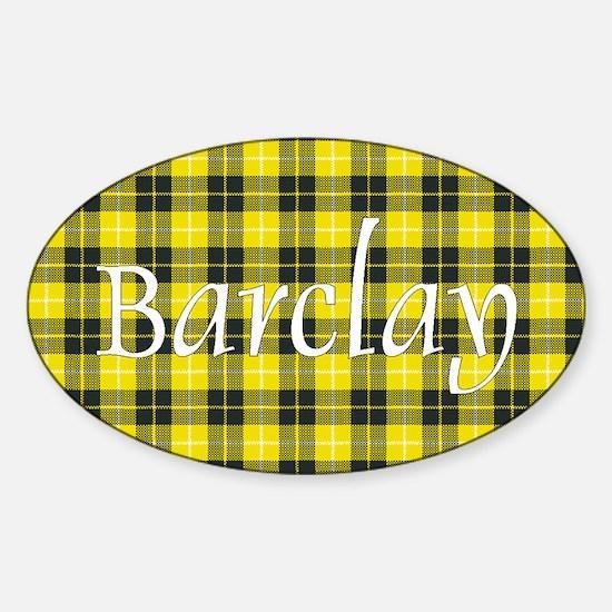 Tartan - Barclay dress Sticker (Oval)