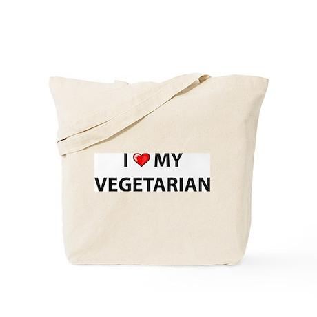 Love My Vegetarian Tote Bag