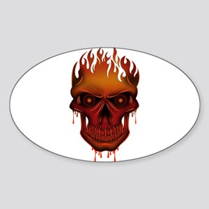 Flame Skull Sticker