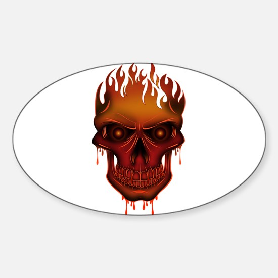 Flame Skull Decal