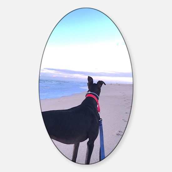 Unique Greyhounds Sticker (Oval)