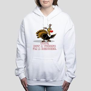 NOPE, NOT A TURKEY. I'M Women's Hooded Sweatshirt
