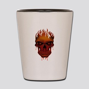 Flame Skull Shot Glass