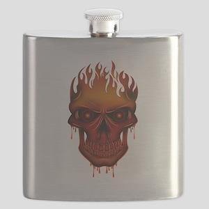 Flame Skull Flask