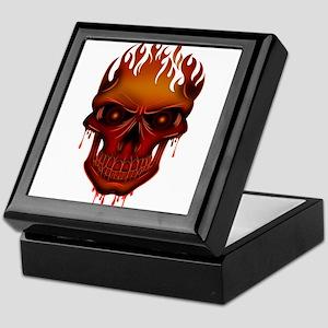 Flame Skull Keepsake Box