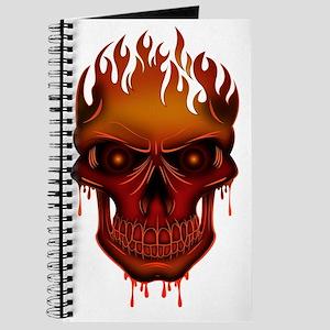 Flame Skull Journal