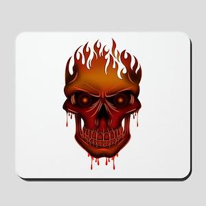 Flame Skull Mousepad