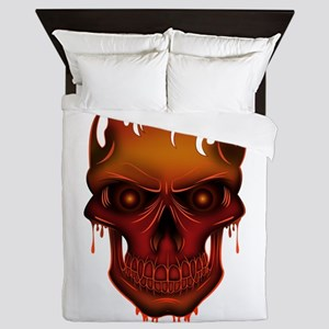 Flame Skull Queen Duvet