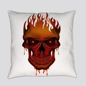 Flame Skull Everyday Pillow