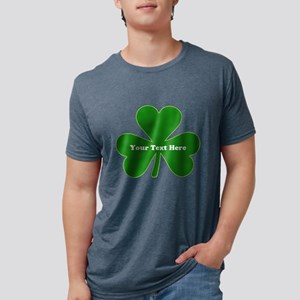 Shamrock Name Personalized Mens Tri-blend T-Shirt
