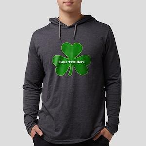 Shamrock Name Personalized Mens Hooded Shirt