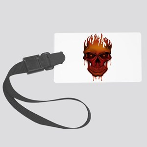 Flame Skull Large Luggage Tag