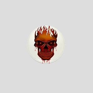 Flame Skull Mini Button