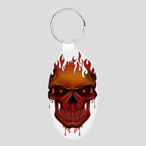 Flame Skull Keychains